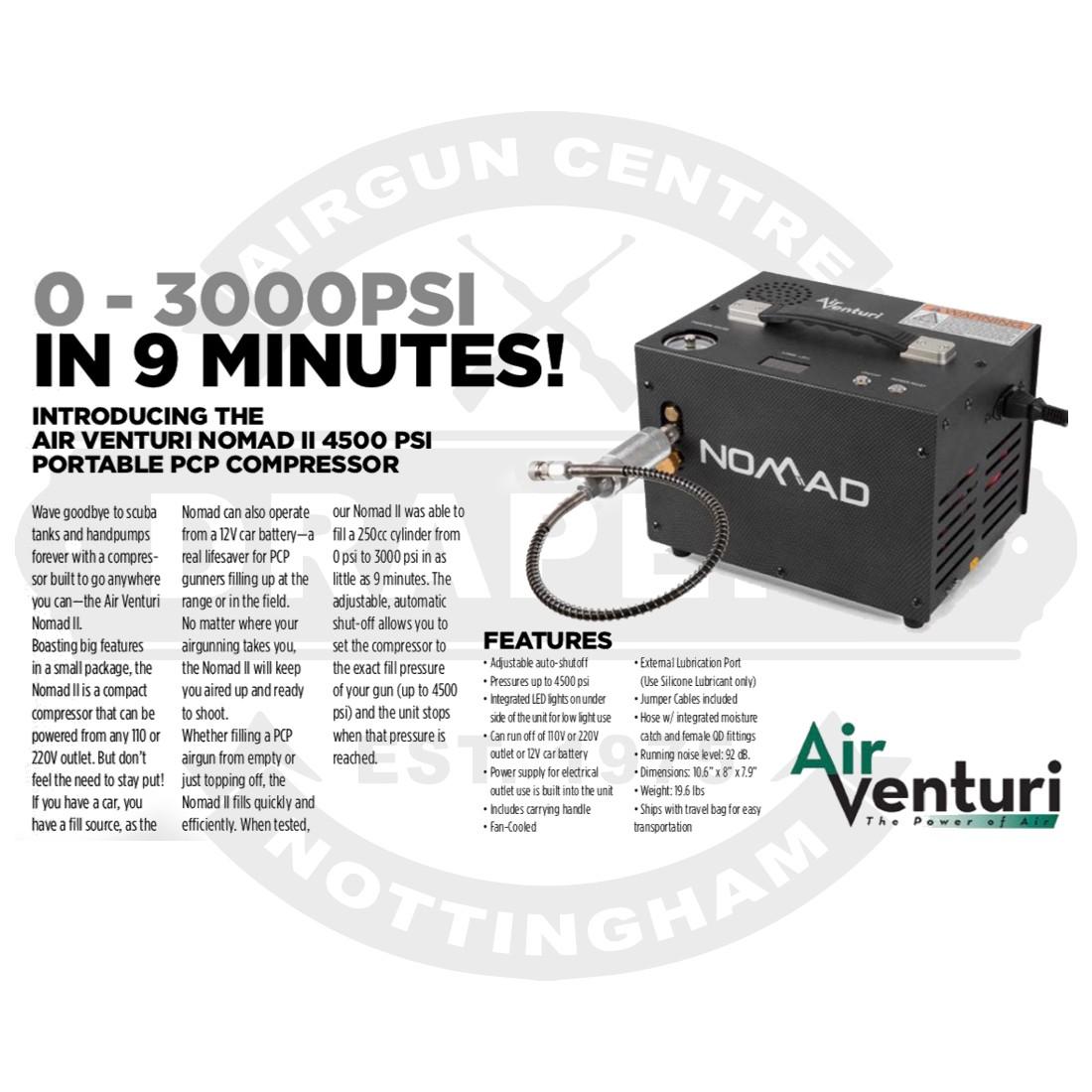 Air Venturi Nomad Ii 4500psi Portable Pcp Compressor