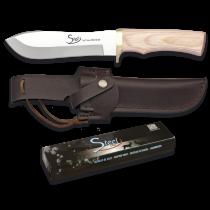 Martinez Albainox Steel 440 Tactical Wooden Knife