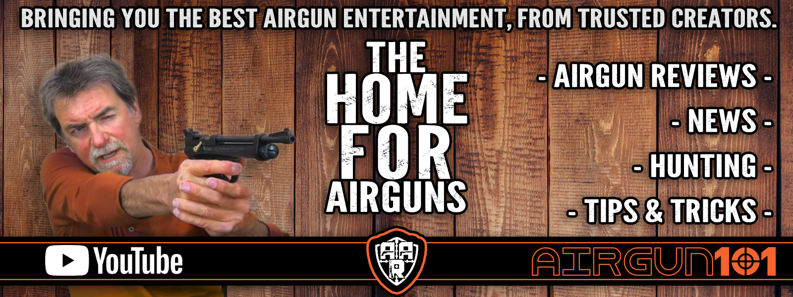 Our welcome relationship with independent reviewer, Andy's Airgun Review. Head over to his channel to find more